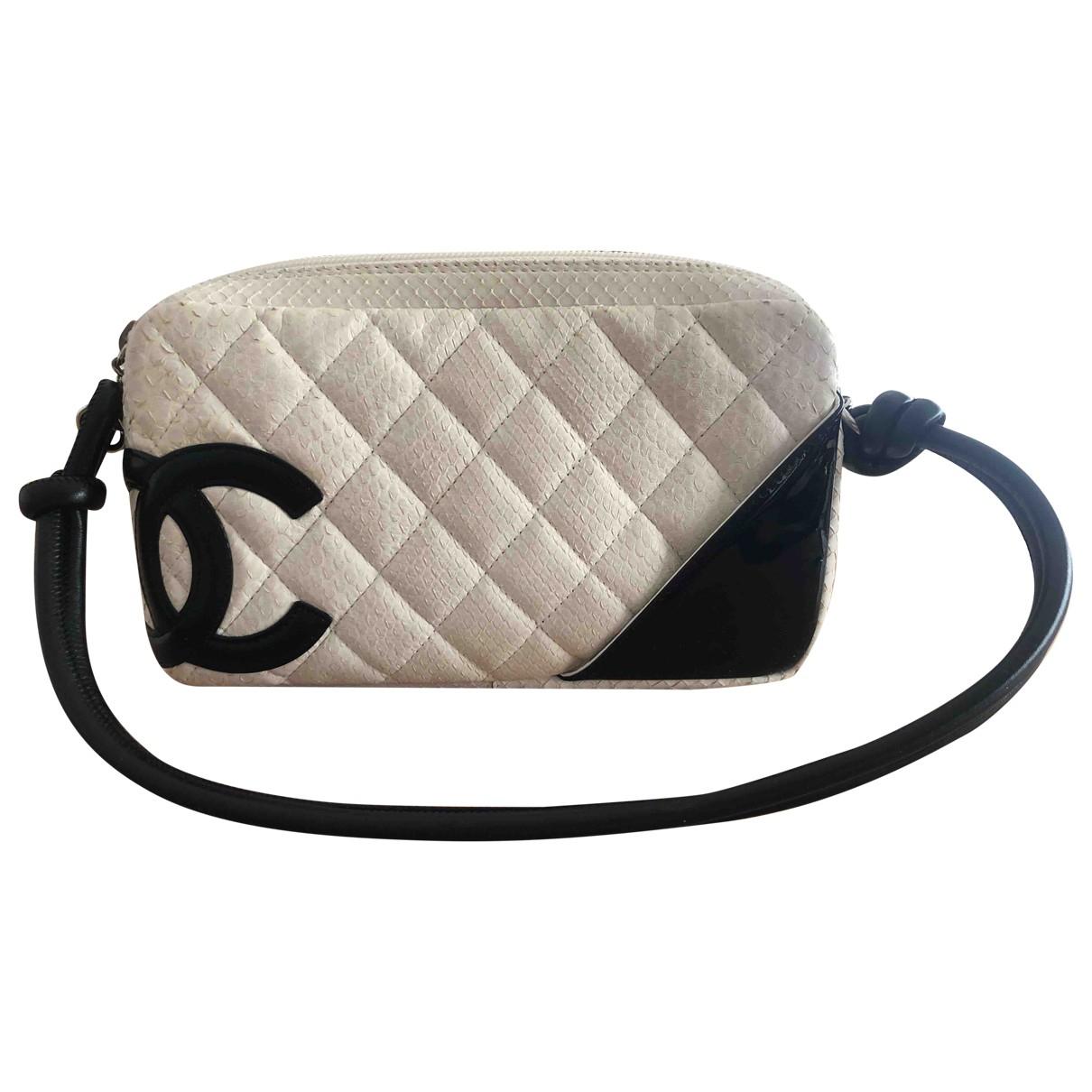 Chanel Cambon Clutch in  Weiss Python
