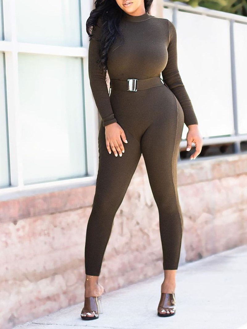 Ericdress Ankle Length Plain Sexy Skinny Straight Jumpsuit