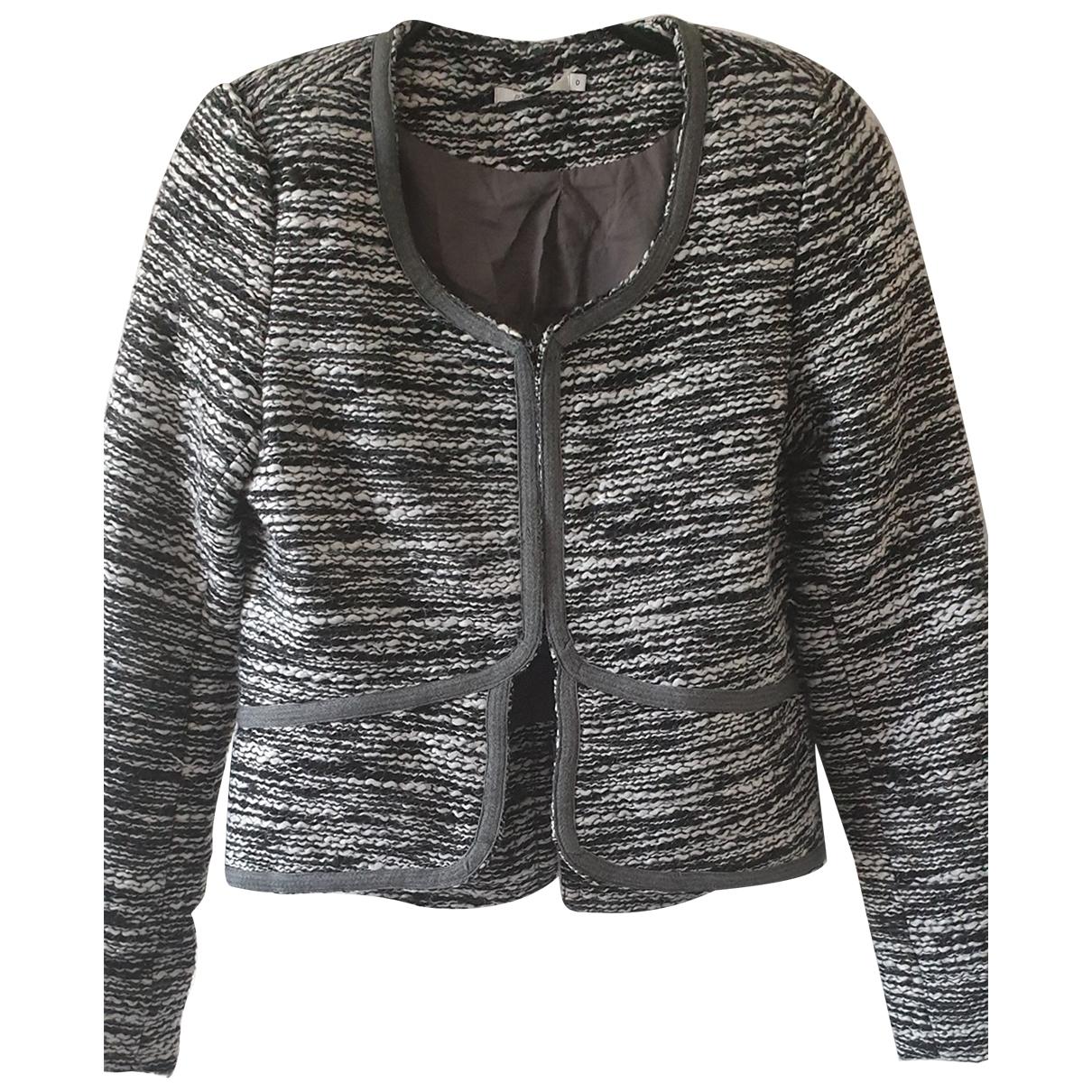 By Zoe - Veste   pour femme en laine - gris
