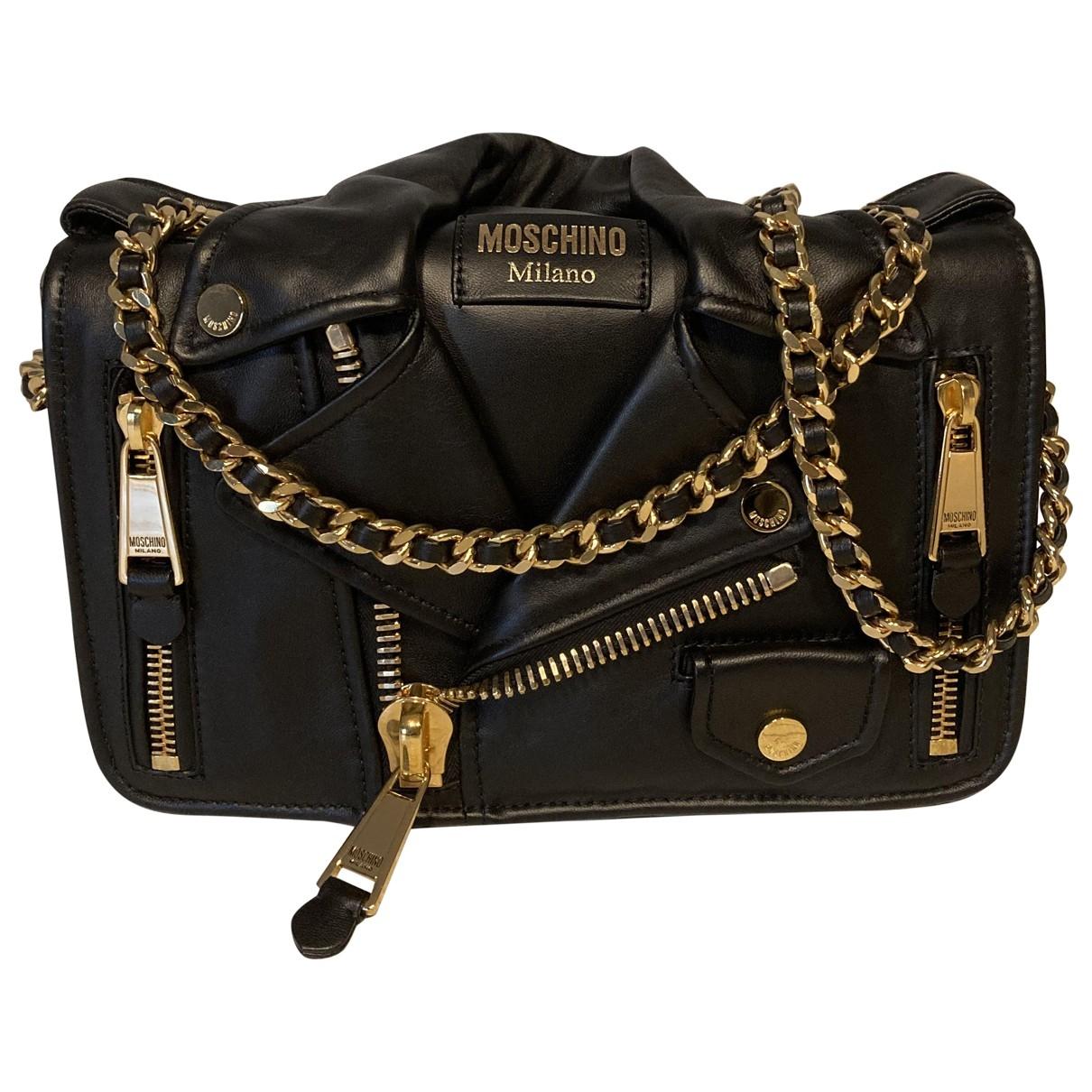 Moschino Biker Black Leather Clutch bag for Women \N