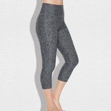 Vutru Sports Leggings mit Reissverschluss, Taschen hinten und breitem Taillenband