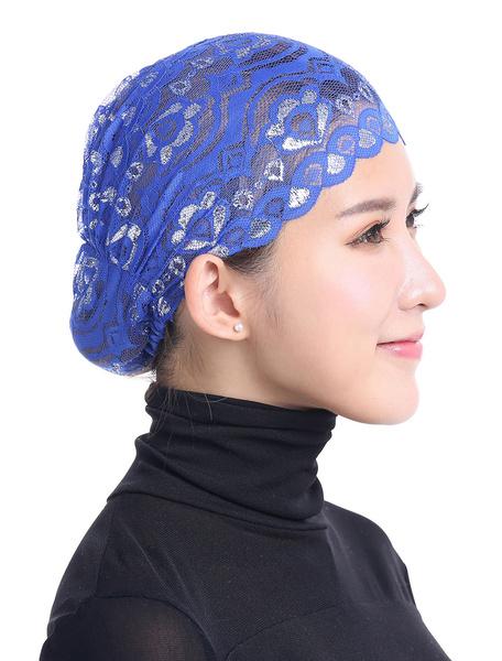 Milanoo Gorras musulmanas Hijab Gorro Sombrero de encaje Gorra interior Underscarf