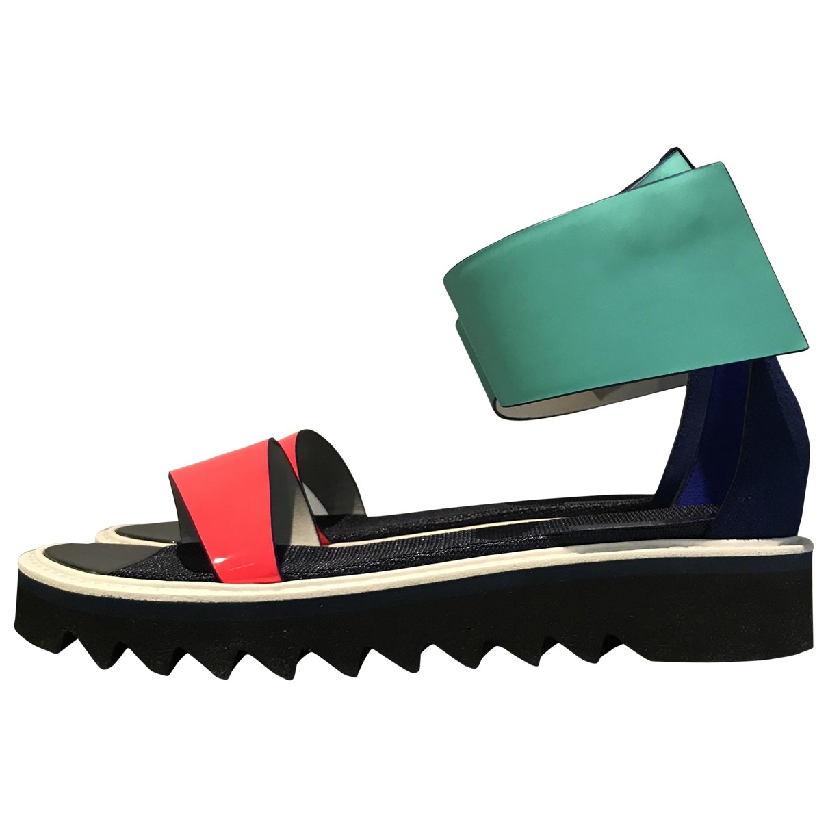 Roksanda \N Blue Leather Sandals for Women 41 EU