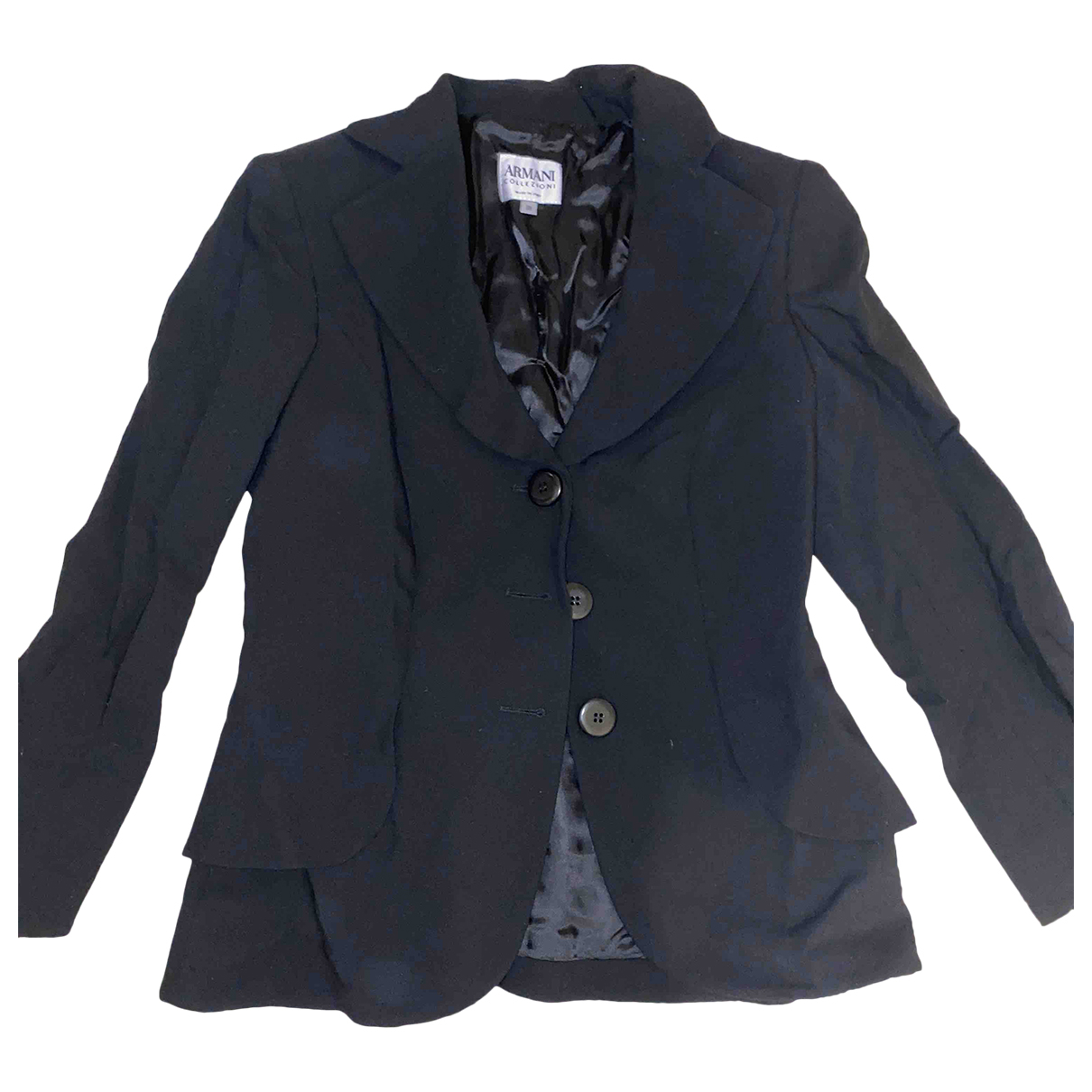 Armani Collezioni \N Black Cotton coat for Women 38 IT