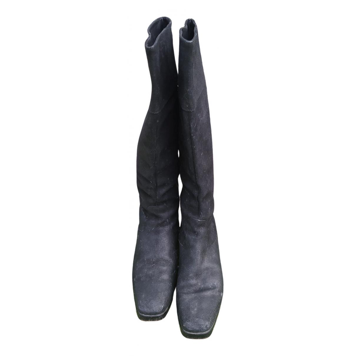 Balenciaga \N Stiefel in  Schwarz Veloursleder