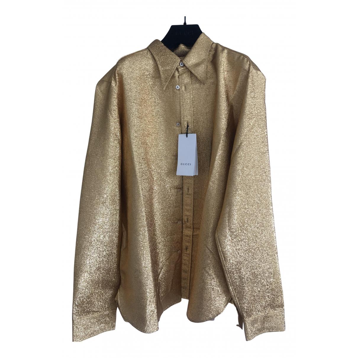 Gucci N Gold Silk Shirts for Men 40 EU (tour de cou / collar)