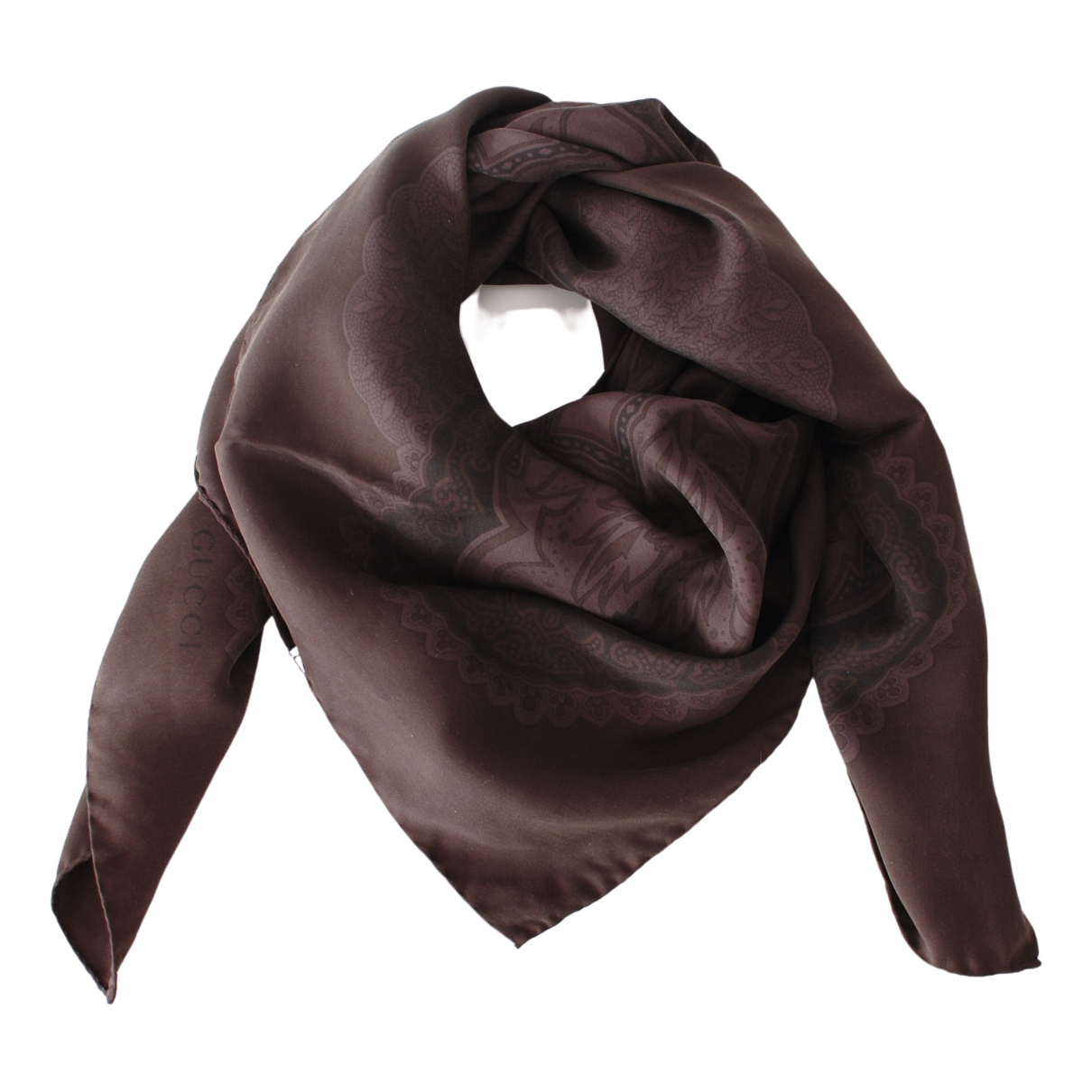 Gucci - Foulard   pour femme en soie - noir