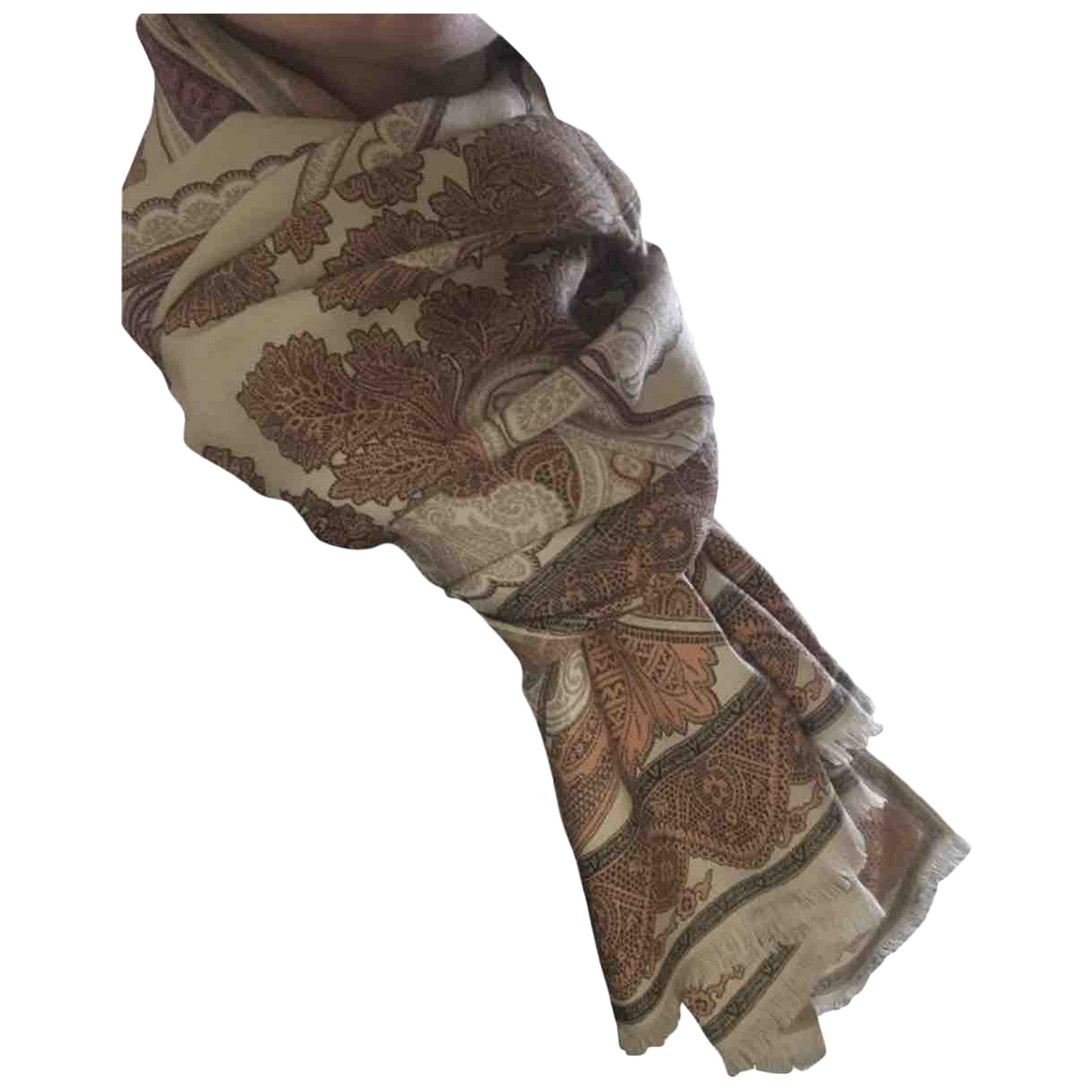 Etro \N Schal in  Beige Wolle