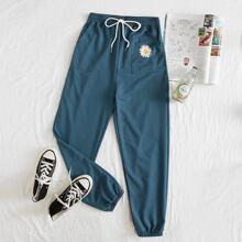 Daisy Graphic Pocket Sweatpants