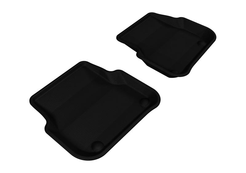3D MAXpider 2005-2011 Audi A6/S6 Kagu 2nd Row Floormats - Black