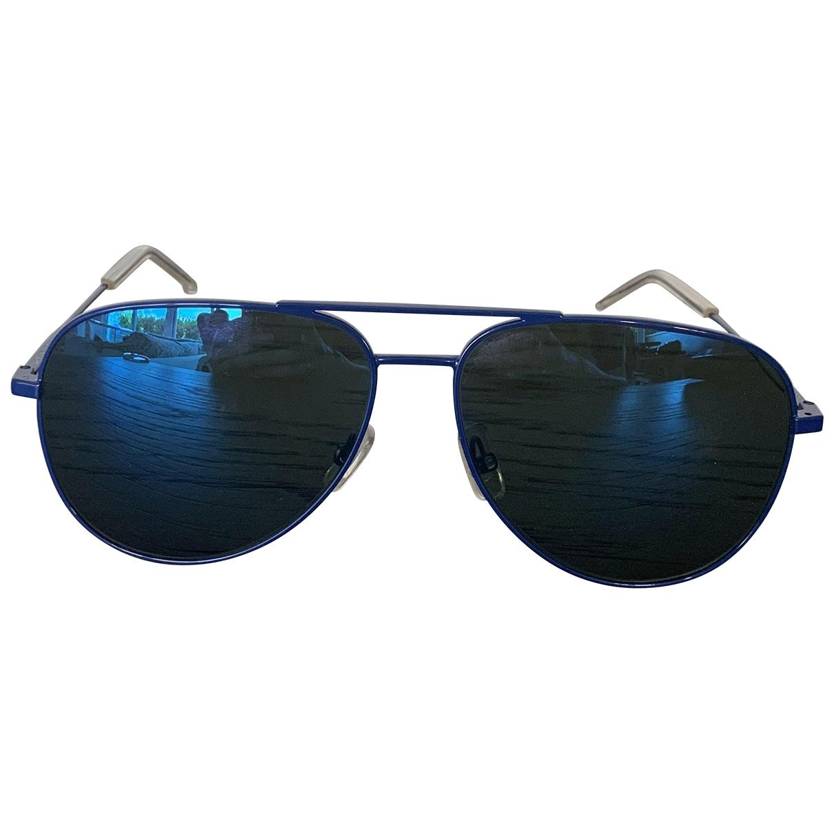 Saint Laurent \N Sonnenbrillen in  Blau Metall