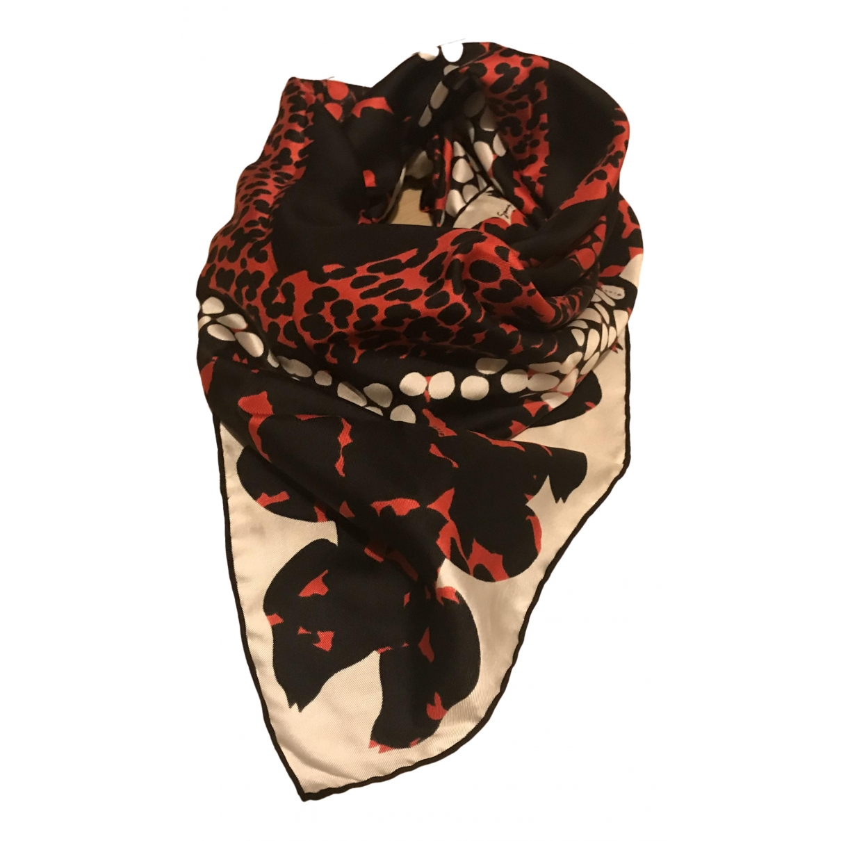 Givenchy \N Red Silk scarf for Women \N