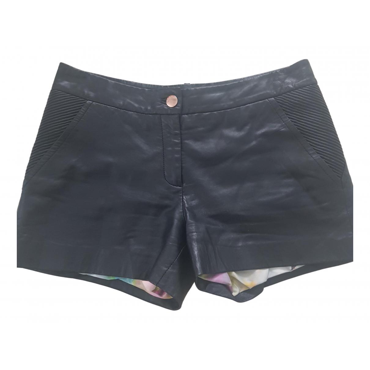 Ted Baker \N Shorts in  Schwarz Leder