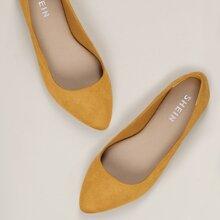 Zapatillas de baile de punta de ante con pelo sintetico