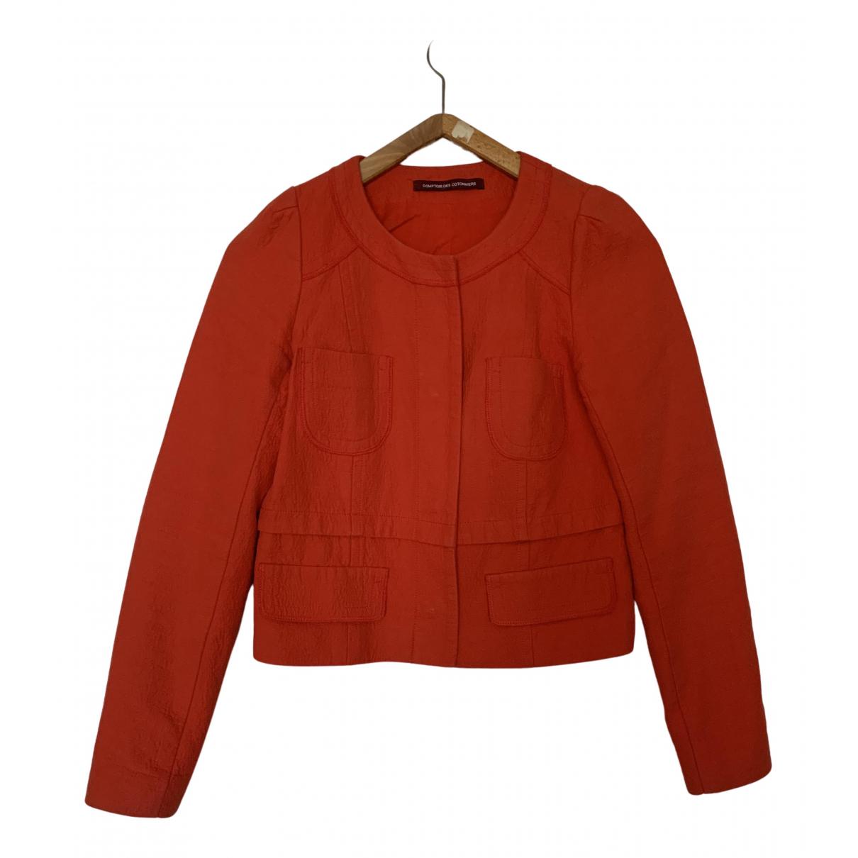 Comptoir Des Cotonniers - Veste   pour femme en coton - orange