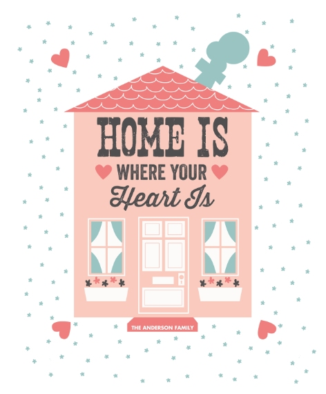 Everyday Canvas Print, 11x14, Home Décor -Heart House (Canvas)