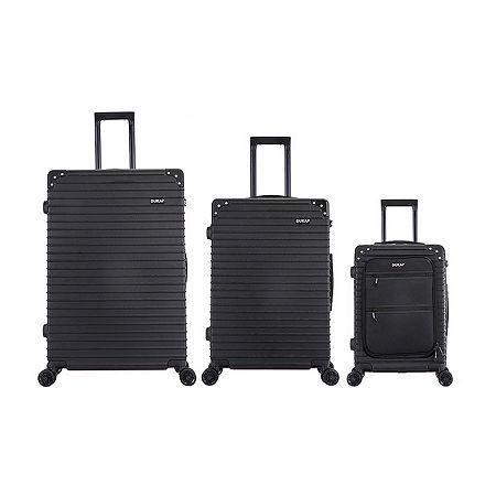 Dukap Tour 3-pc. Hardside Lightweight Luggage Set, One Size , Black