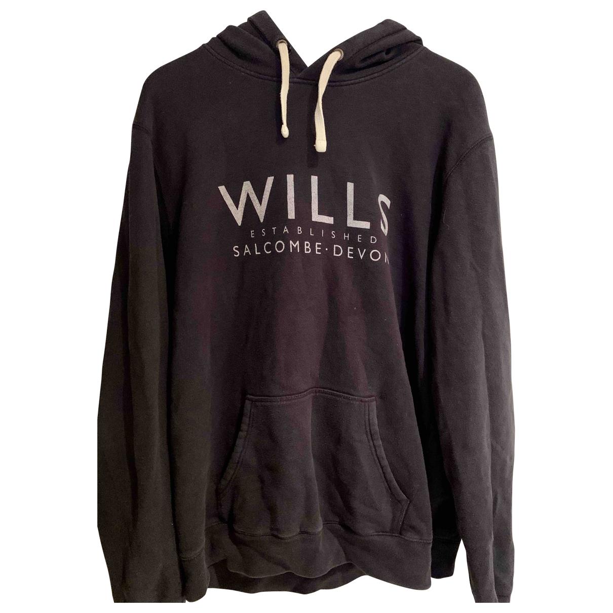 Jack Wills \N Pullover.Westen.Sweatshirts  in  Marine Baumwolle