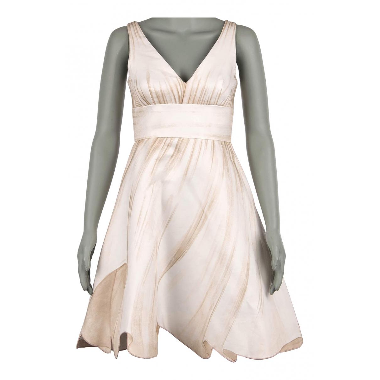 Moschino - Robe   pour femme en coton - beige