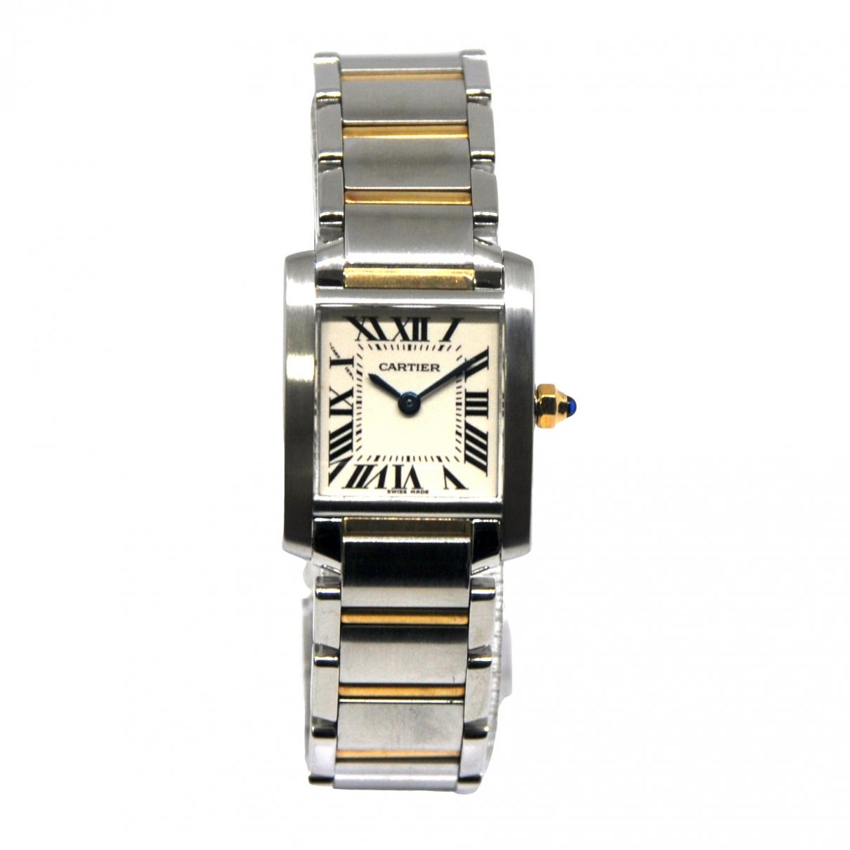 Cartier Tank Francaise Uhr in Gold und Stahl