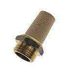 Legris 0675 Brass 12bar Pneumatic Silencer, Threaded, G 1/8 Male (5)