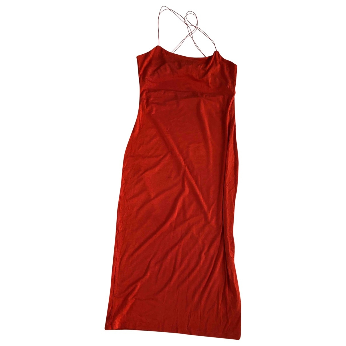 T By Alexander Wang \N Kleid in  Rot Viskose