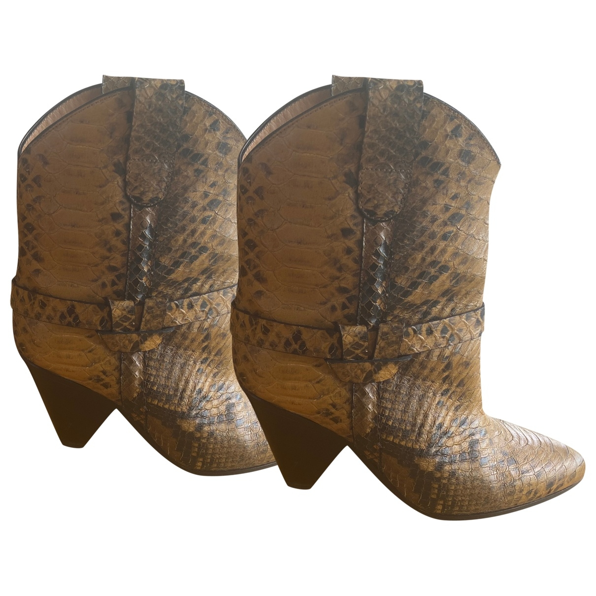 Isabel Marant \N Yellow Leather Ankle boots for Women 39 EU
