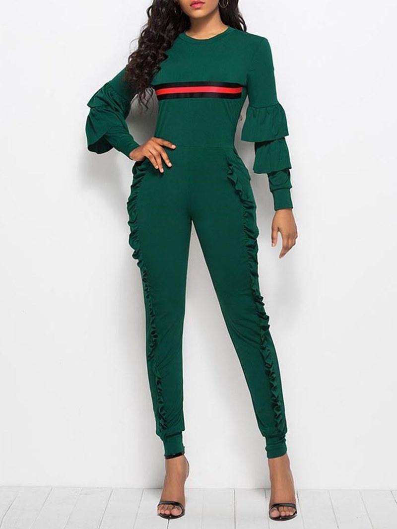 Ericdress Skinny Stringy Selvedge Color Block Women's Jumpsuit