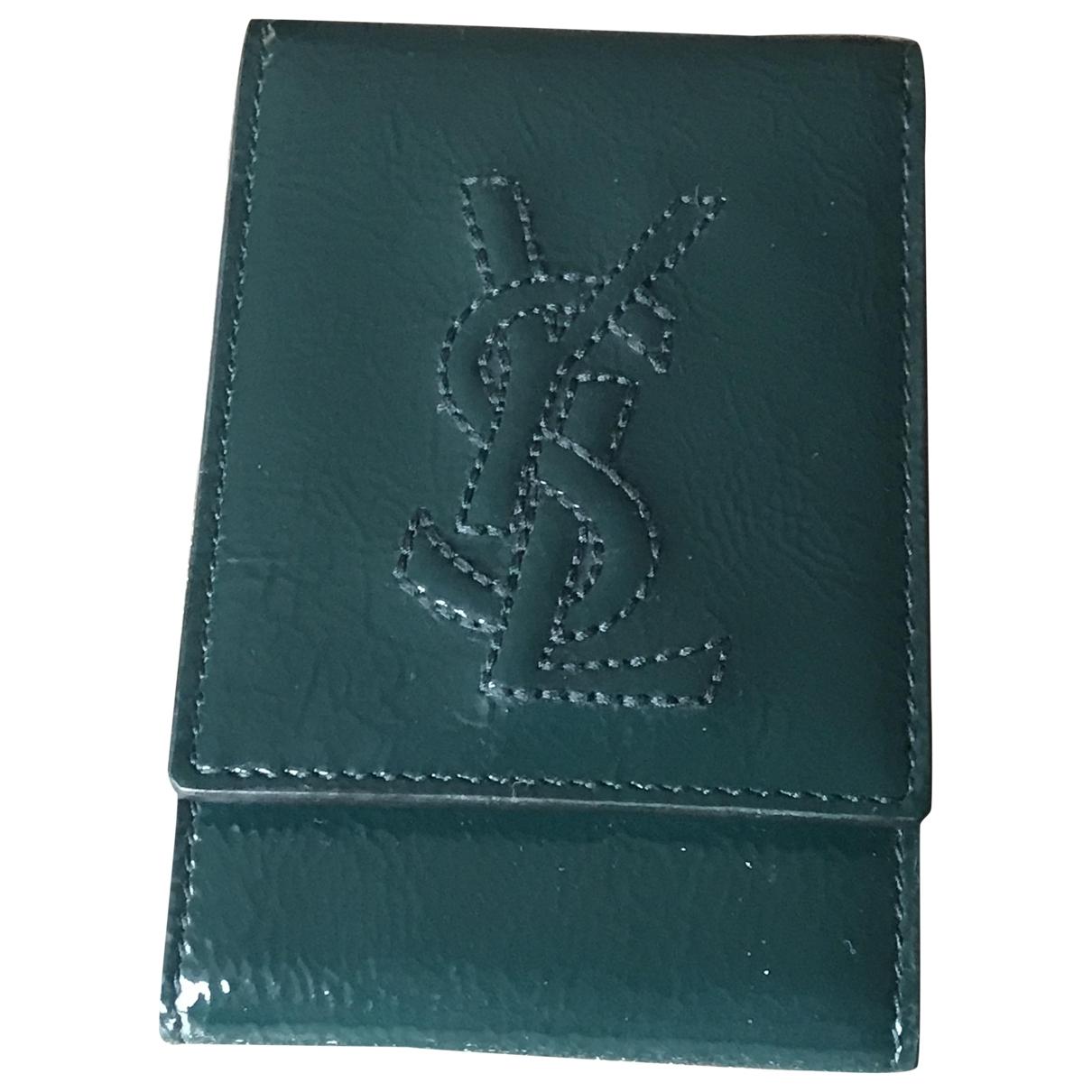 Yves Saint Laurent - Objets & Deco   pour lifestyle en cuir - vert