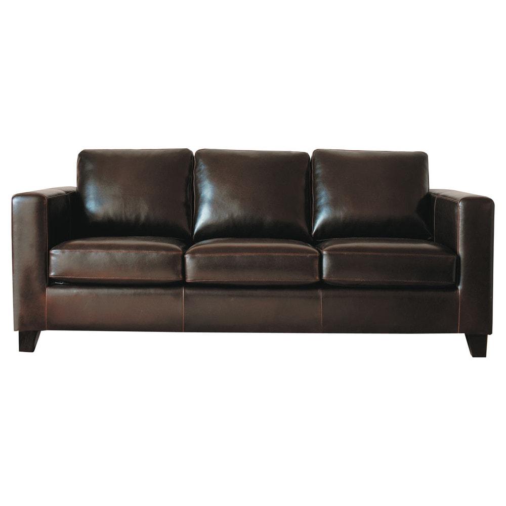 Spaltleder Sofa 3-Sitzer, schokoladenbraun Kennedy Kennedy
