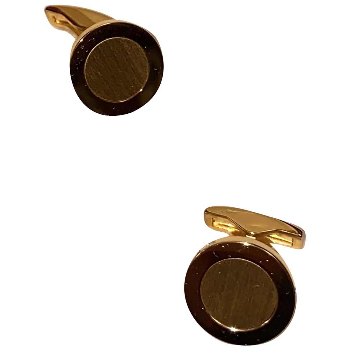 S.t. Dupont \N Manschettenknopfe in  Gold Gold und Stahl