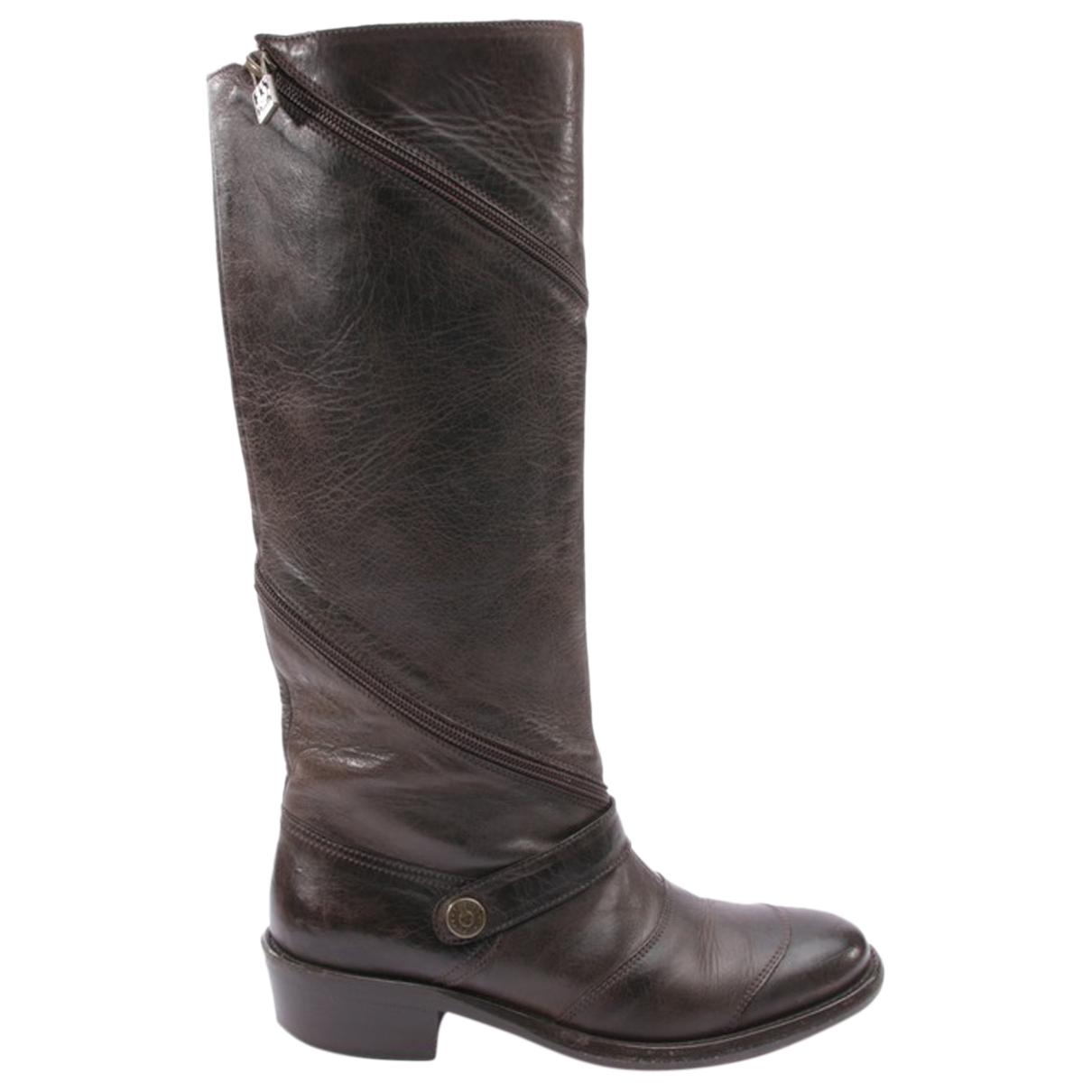 Belstaff - Bottes   pour femme en cuir - marron
