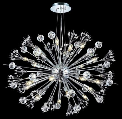 3400D36C/EC 3400 Cyclone Collection Hanging Fixture D36in H26in Lt: 24 (Elegant Cut
