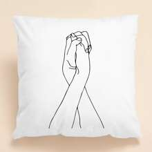 Hand Print Cushion Cover Without Filler