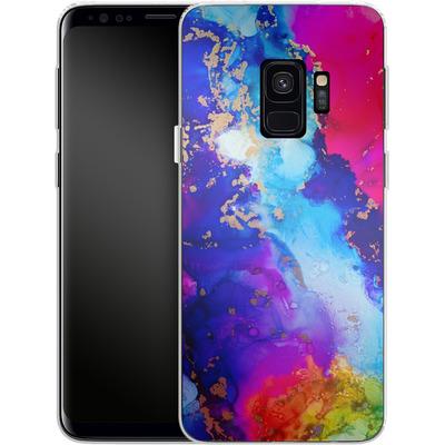 Samsung Galaxy S9 Silikon Handyhuelle - Cosmic Swirl II von Stella Lightheart