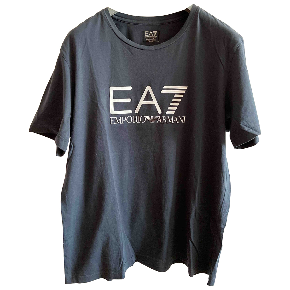 Emporio Armani - Tee shirts   pour homme en coton - marine