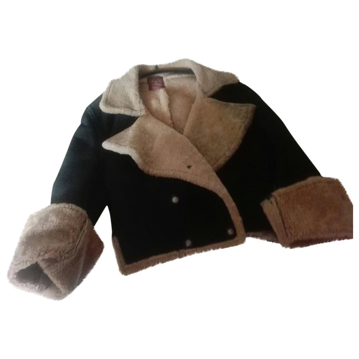 - Veste   pour femme en agneau de mongolie - marron