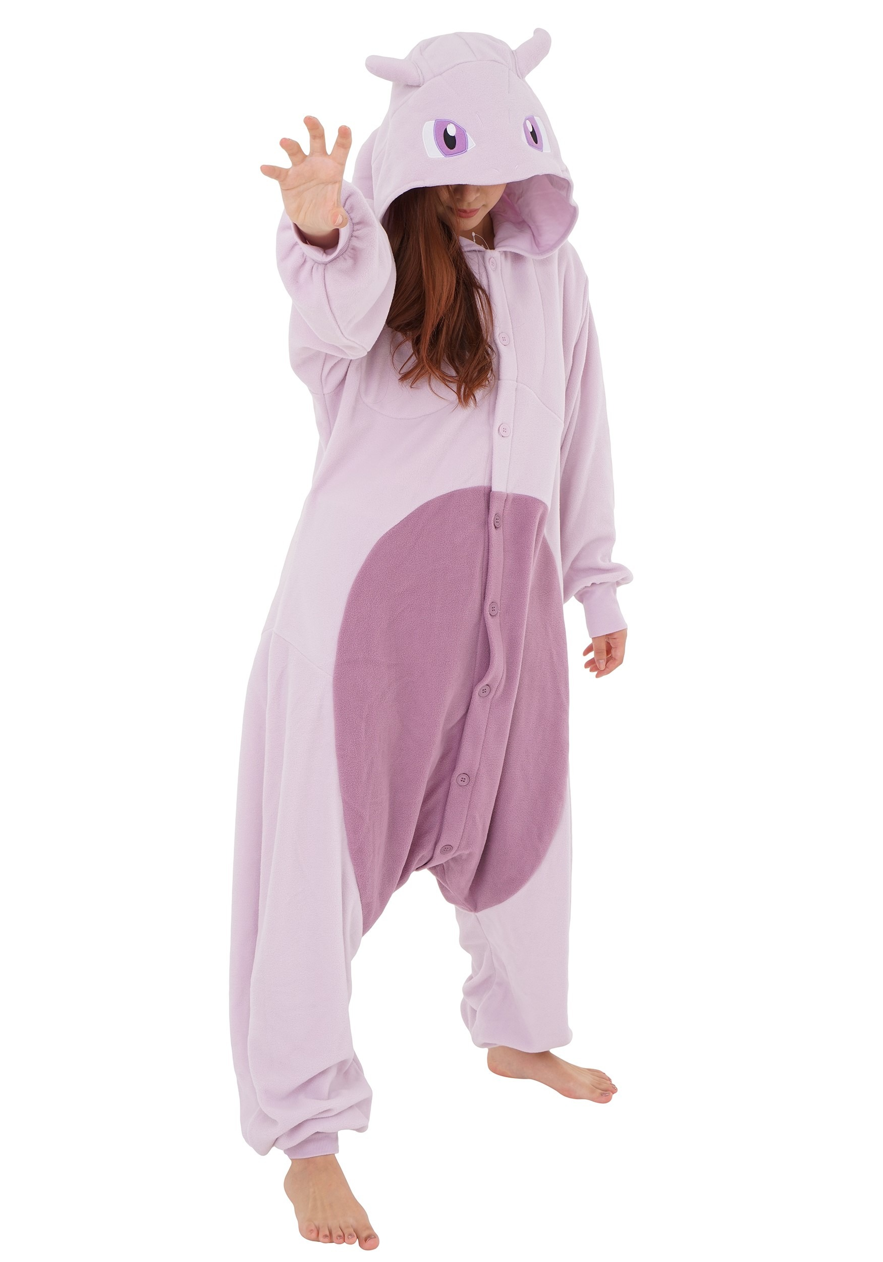 Adult Plus Size Pokemon Mewtwo Kigurumi
