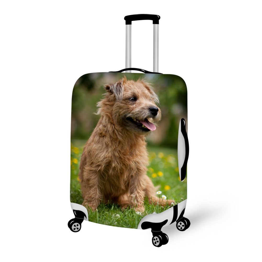 Shining Doggy on Grass Pattern 3D Painted Luggage Cover