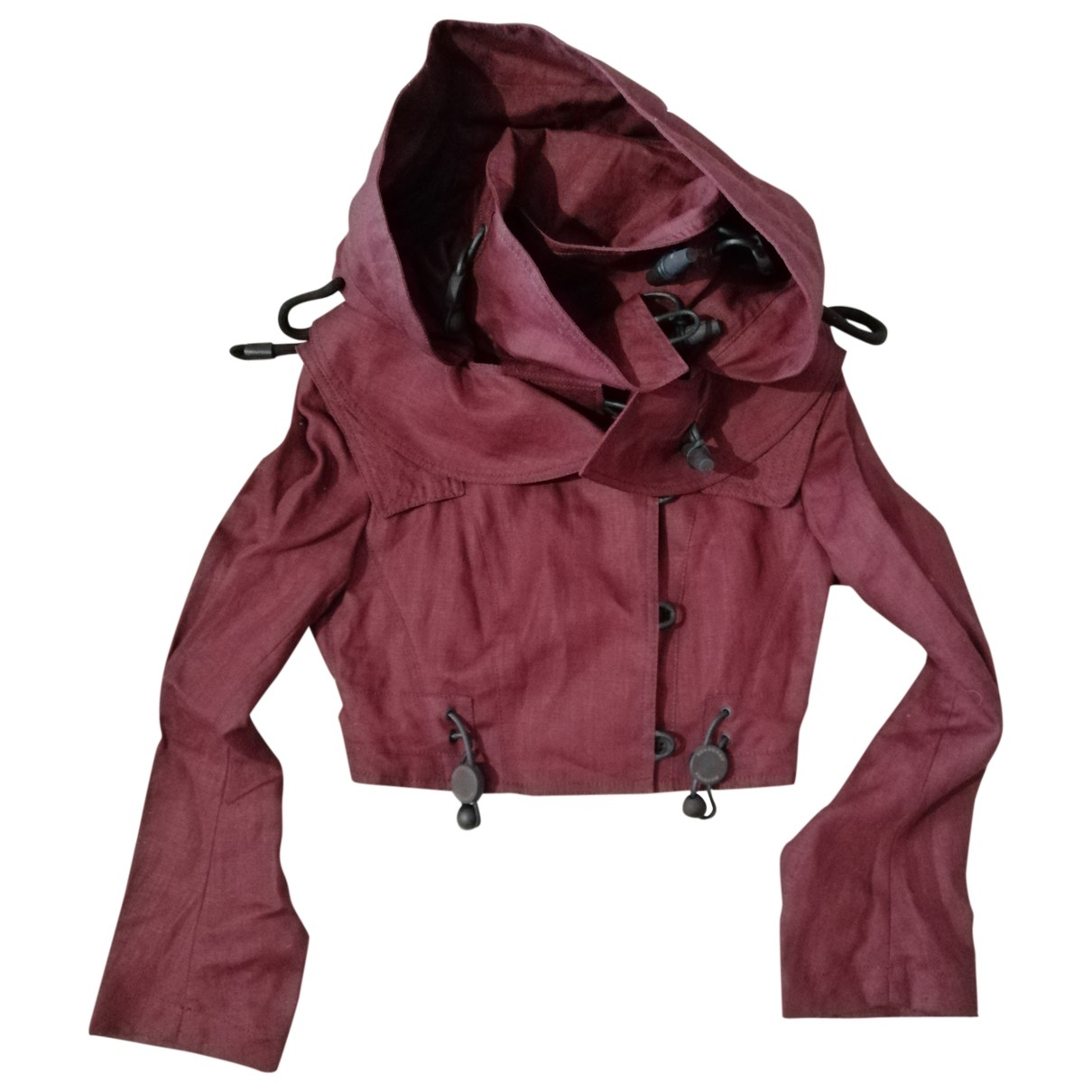 Burberry \N Burgundy Linen jacket for Women 40 IT