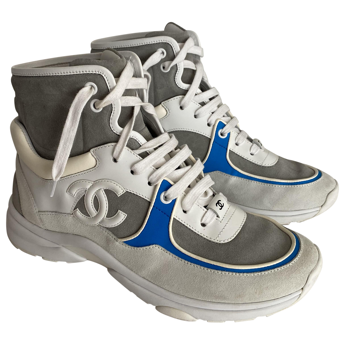 Chanel \N Grey Leather Trainers for Women 39 EU