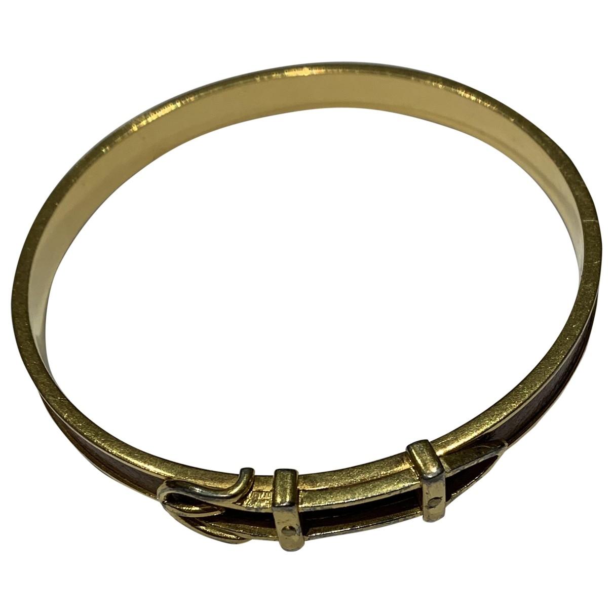 Hermes Kelly Armband in  Kamel Metall