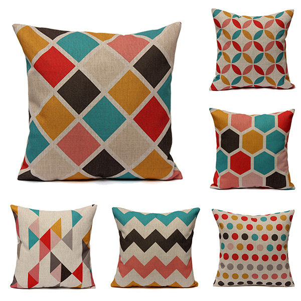 Geometric Abstract Printed Cushion Cover Sofa Bed Pillow Case