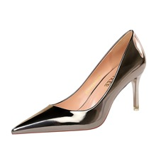 Metallische Pumps