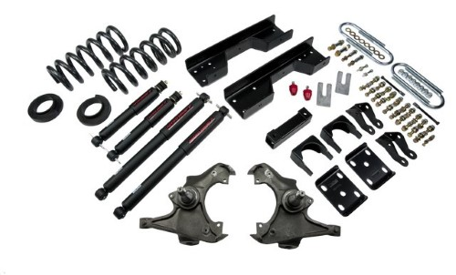Belltech 727ND 4-5inch Front 8inch Rear Lowering Kit w/ ND2 Shocks Chevrolet Silverado | GMC Sierra C3500 Ext Cab 1988