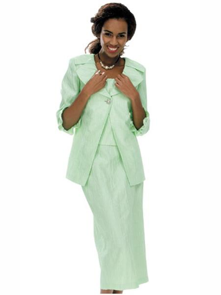 Womens Long Sleeve Mint Suit