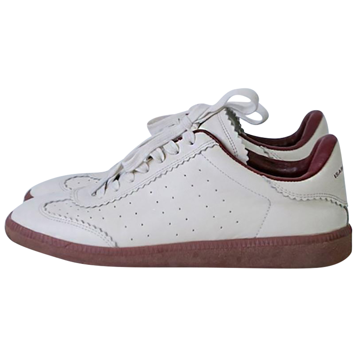 Isabel Marant Bart Camel Leather Trainers for Women 37 EU