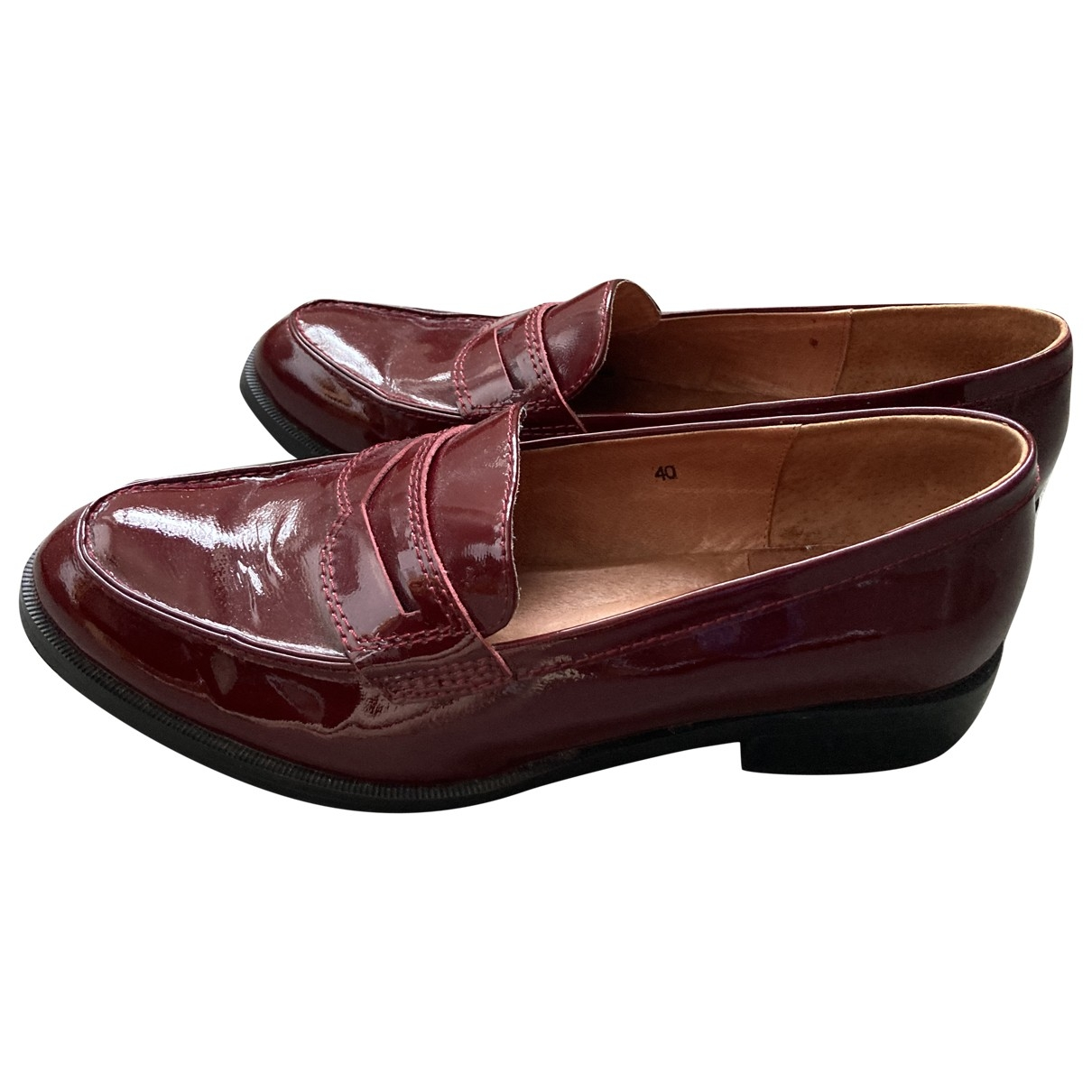 Office London \N Burgundy Patent leather Flats for Women 40 EU