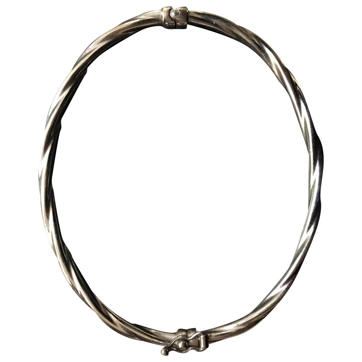 - Bracelet Jonc pour femme en or blanc - gris