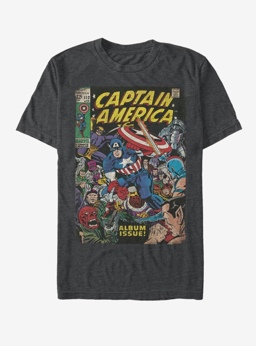Marvel Captain America Front Cover T-Shirt